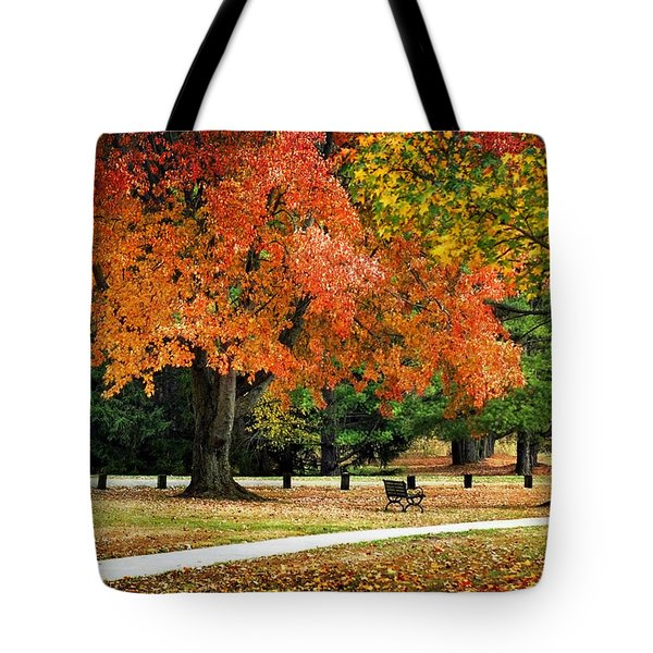 Fall In The Park Tote Bag by Christina Rollo