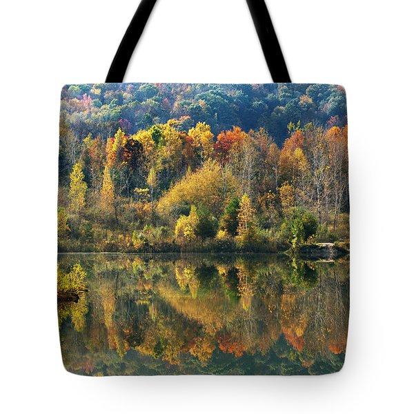 Fall Kaleidoscope Tote Bag by Christina Rollo