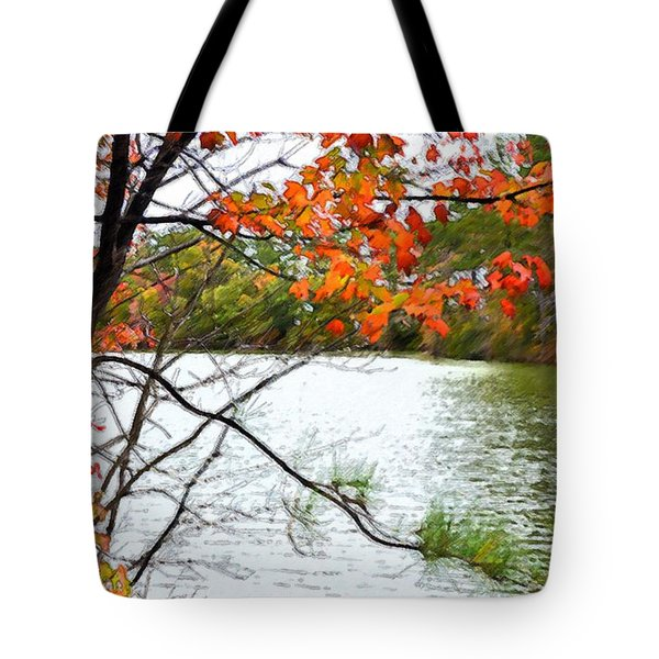 Fall Landscape 1 Tote Bag by Lanjee Chee