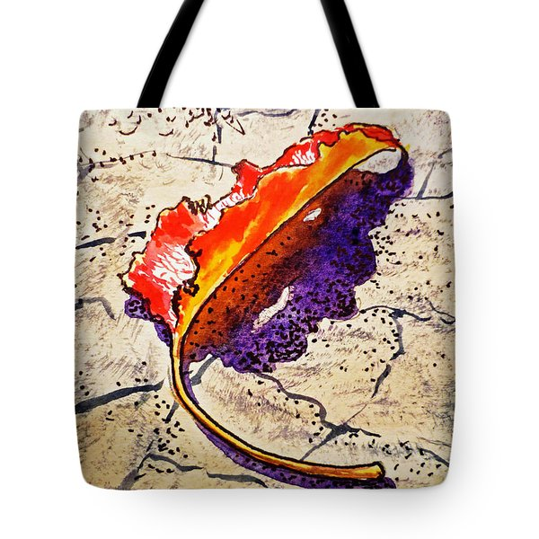 Fall Leaf Sketchbook Project Down My Street Tote Bag by Irina Sztukowski
