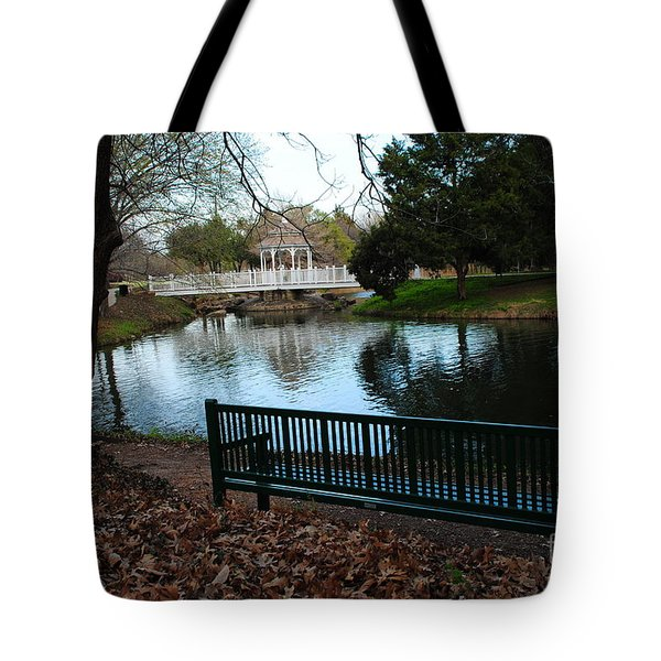 Fall Leaves Carpeting And Metal Sofa Tote Bag by ARTography by Pamela  Smale Williams