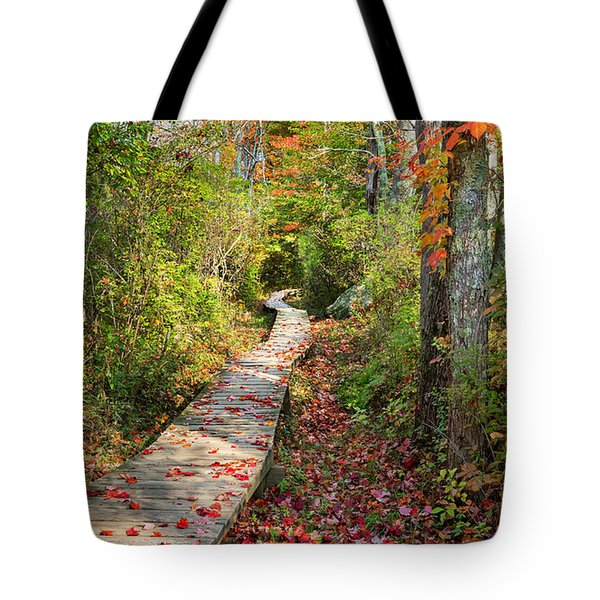 Fall Morning Tote Bag by Bill  Wakeley