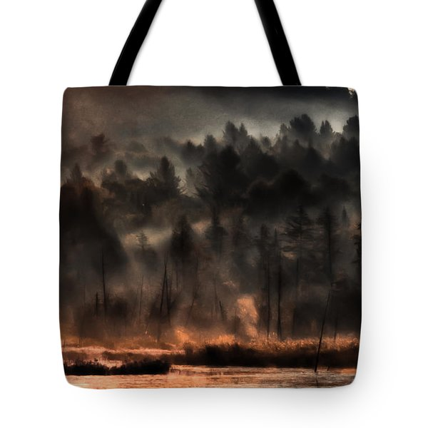 Fall Morning Fog Tote Bag by Jeff Folger