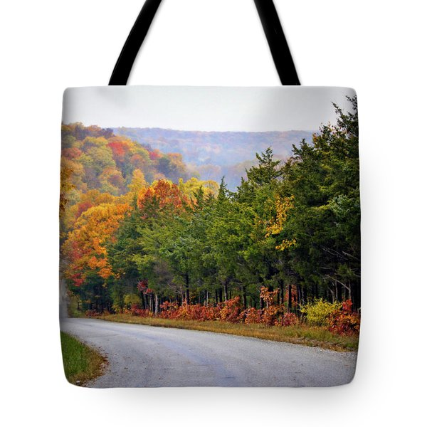 Fall On Fox Hollow Road Tote Bag by Cricket Hackmann
