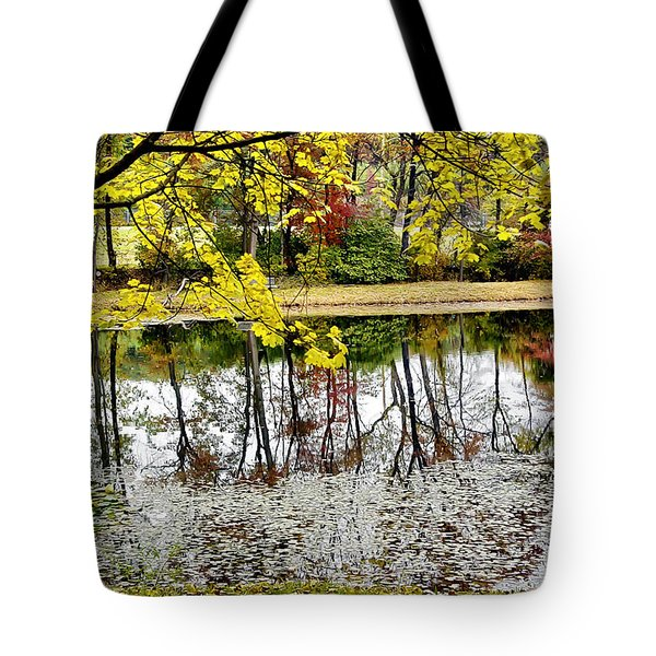 Fall Reflections Tote Bag by Brian Wallace