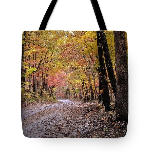 Fall Road Tote Bag by Marty Koch