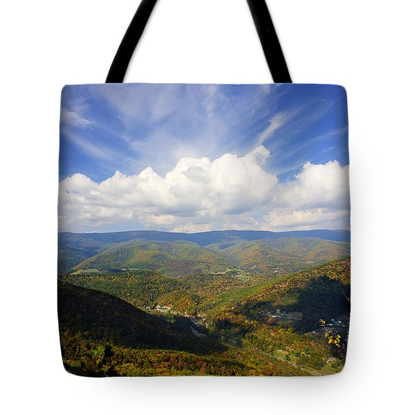 Fall Scene From North Fork Mountain Tote Bag by Dan Friend