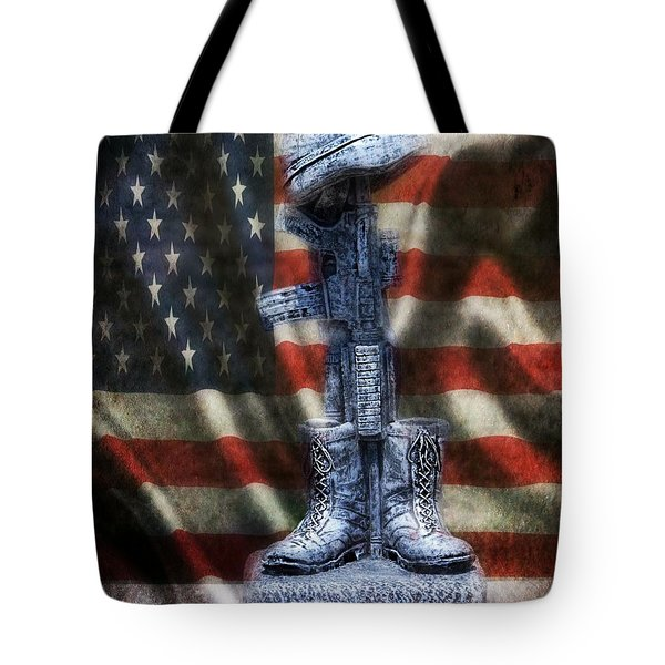 Fallen Soldiers Memorial Tote Bag by Peggy  Franz