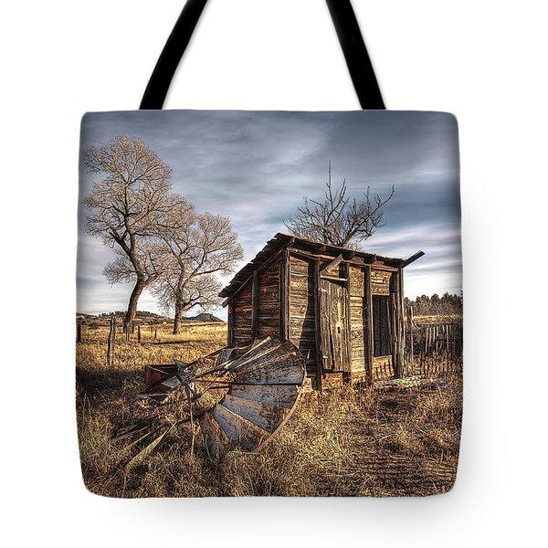 Fallen Windmill Tote Bag by Dan Sabin