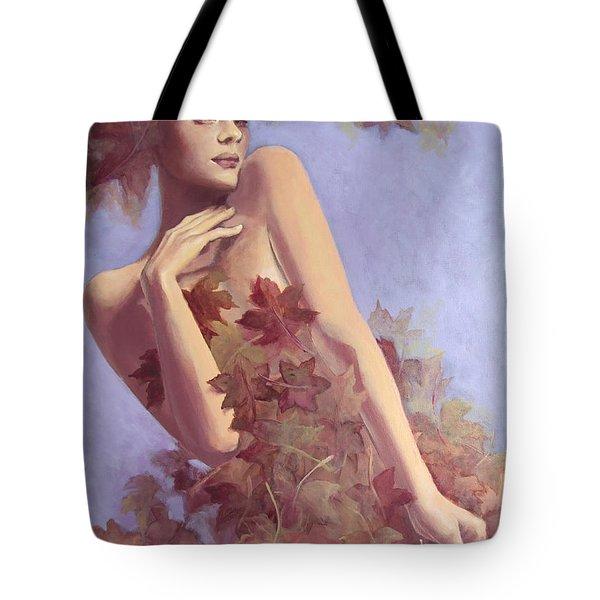 Fall...in Love... Tote Bag by Dorina  Costras