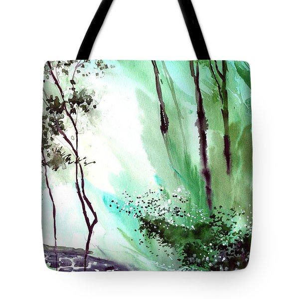 Falling Light Tote Bag by Anil Nene