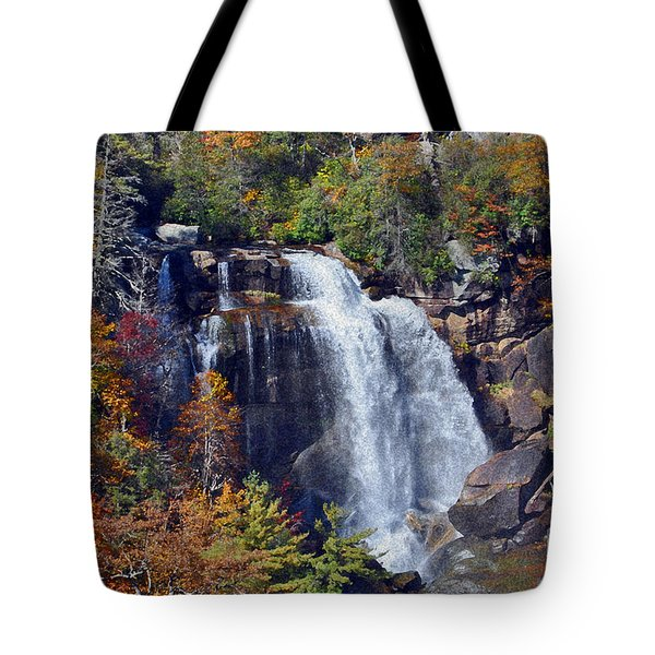 Falls In Fall Tote Bag by Lydia Holly