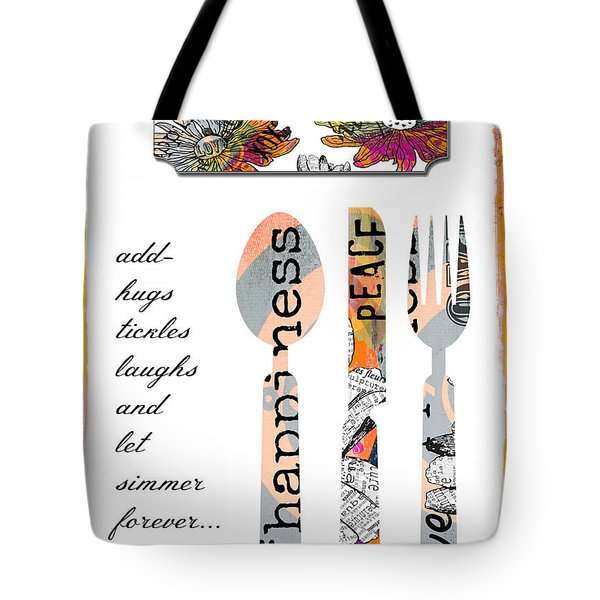 Family Love Recipes Tote Bag by Anahi DeCanio