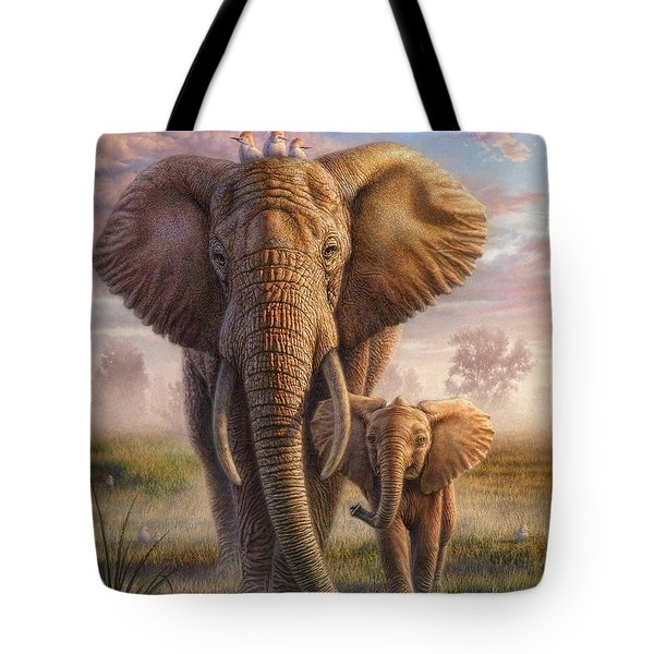 Family Stroll Tote Bag by Phil Jaeger