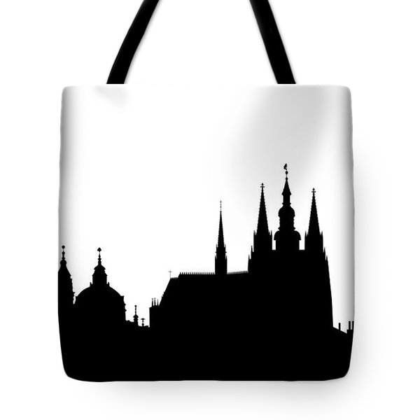 famous landmarks of Prague Tote Bag by Michal Boubin