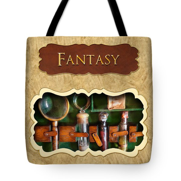 Fantasy button Tote Bag by Mike Savad