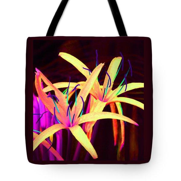 Fantasy Flowers 7 Tote Bag by Margaret Saheed