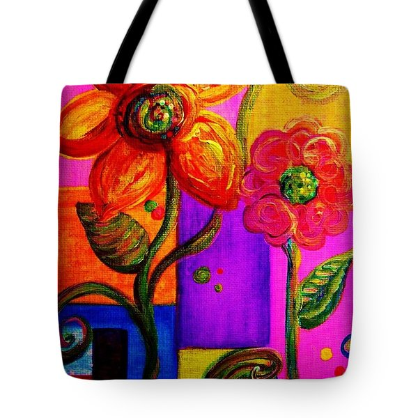 Fantasy Flowers Tote Bag by Eloise Schneider