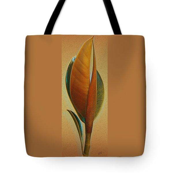 Fantasy Leaf Tote Bag by Ben and Raisa Gertsberg