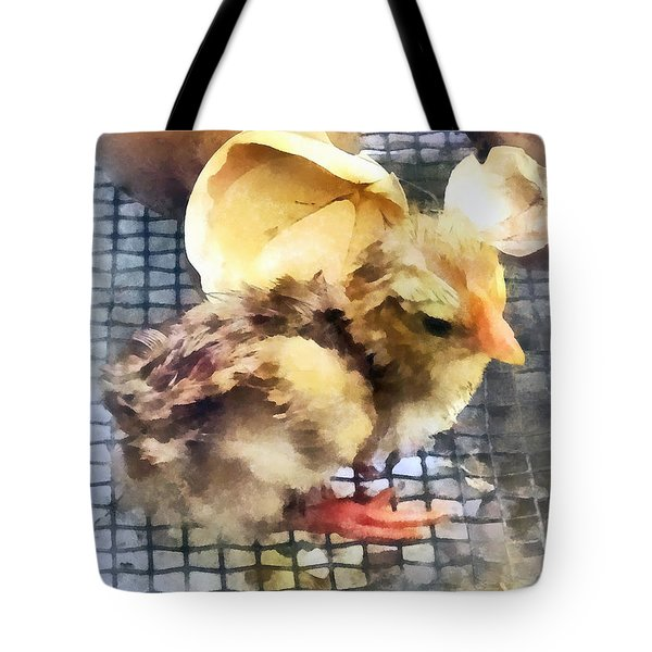 Farm Animals - Just Hatched Tote Bag by Susan Savad