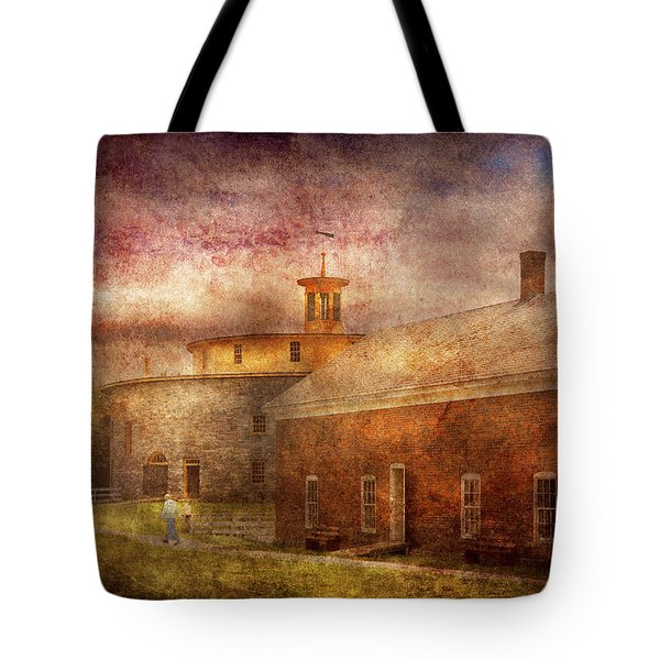 Farm - Barn - Shaker Barn  Tote Bag by Mike Savad