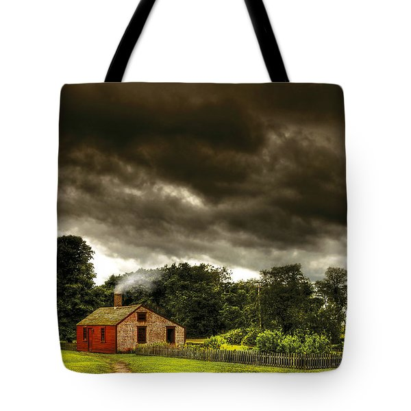 Farm - Barn - Storms a comin Tote Bag by Mike Savad