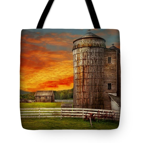 Farm - Barn - Welcome to the farm  Tote Bag by Mike Savad