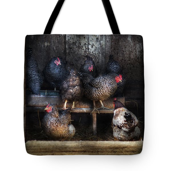 Farm - Chicken - The Hen House Tote Bag by Mike Savad