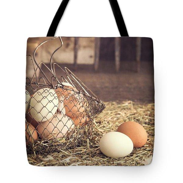 Farm Fresh Eggs Tote Bag by Edward Fielding