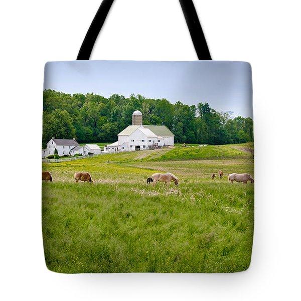 Farm Life Tote Bag by Guy Whiteley
