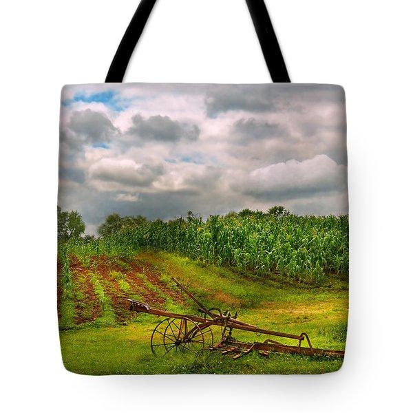 Farm - Organic Farming Tote Bag by Mike Savad