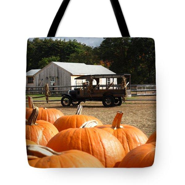 Farm Stand Pumpkins Tote Bag by Barbara McDevitt