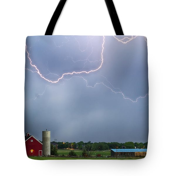 Farm Storm Hdr Tote Bag by James BO  Insogna