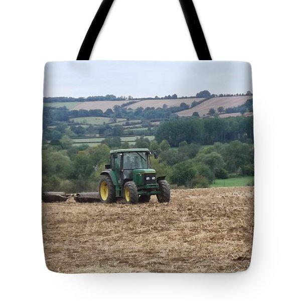 Farm Tractor Tote Bag by John Williams