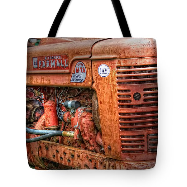 Farmall Tractor Tote Bag by Bill  Wakeley