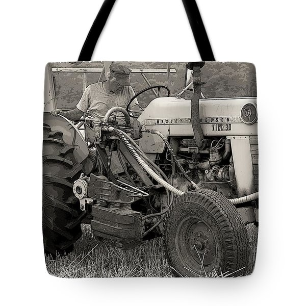 Farmer And His Tractor Tote Bag by Kathleen Struckle