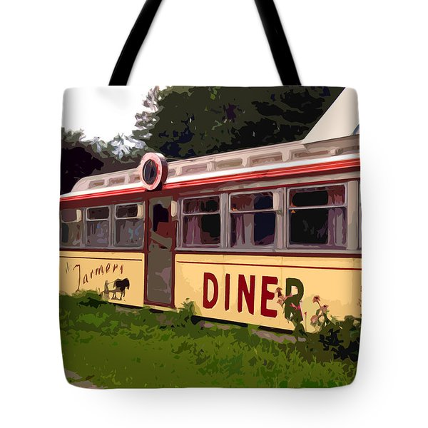 Farmers Diner Tote Bag by Jean Hall