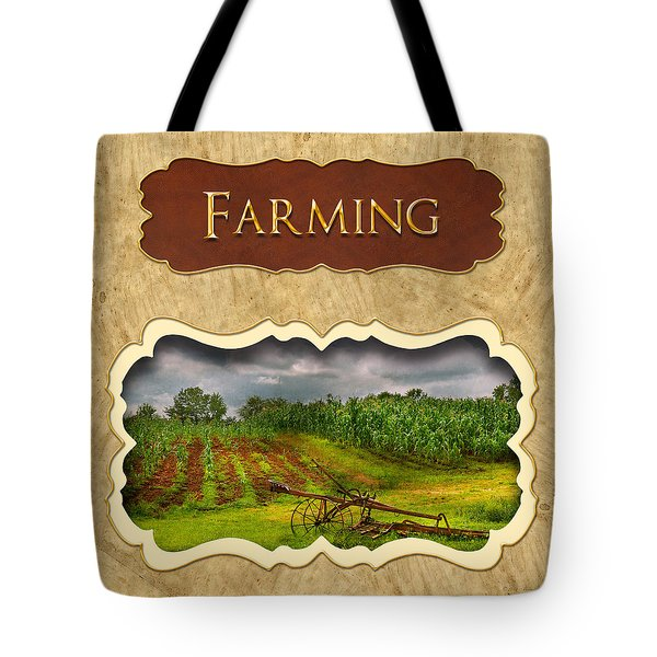 Farming and country life button Tote Bag by Mike Savad