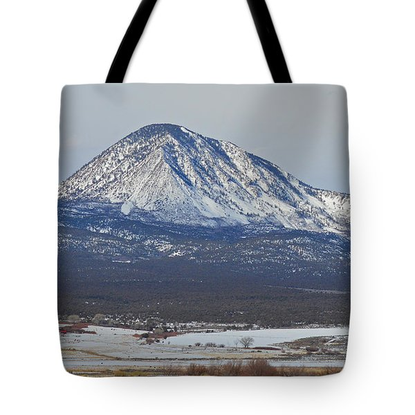 Farmland under the mountain Tote Bag by Meandering Photography