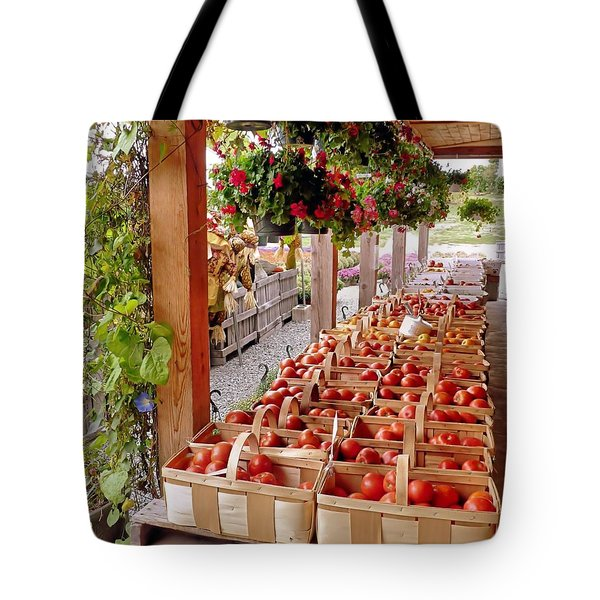 Farmstand Tote Bag by Janice Drew