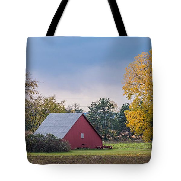 Farmstead With Fall Colors Tote Bag by Paul Freidlund