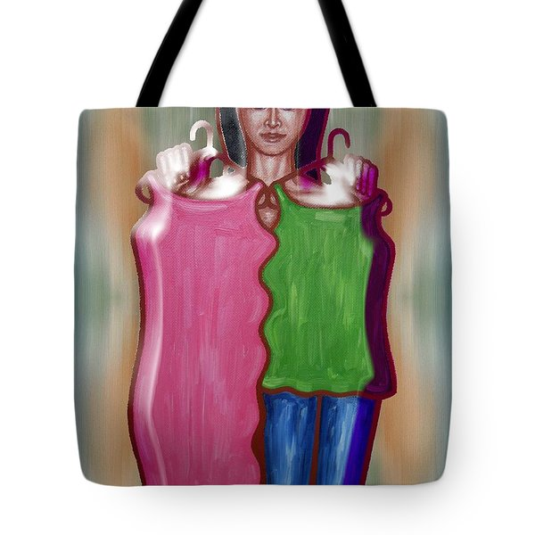 Fashion Dilemma Tote Bag by Patrick J Murphy