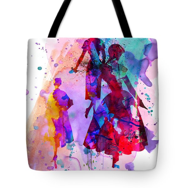 Fashion Models 6 Tote Bag by Naxart Studio