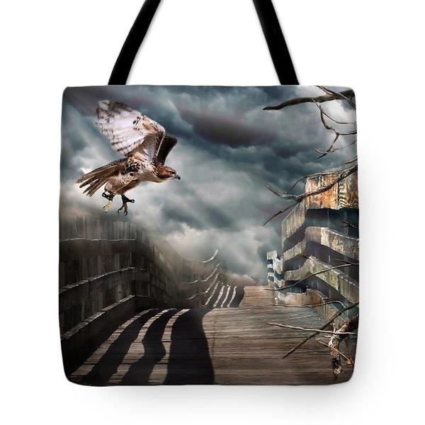 Fateful Crossing Tote Bag by Christina Rollo