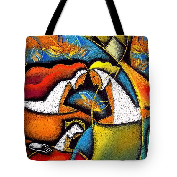 Father And Mother Tote Bag by Leon Zernitsky