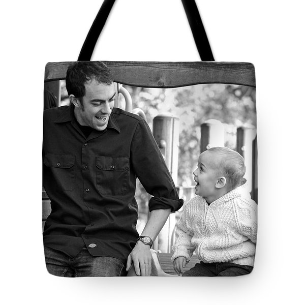 Father And Son II Tote Bag by Lisa Phillips