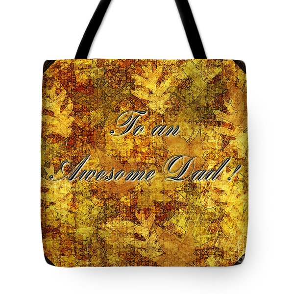 Father's Day Greeting Card II Tote Bag by Debbie Portwood