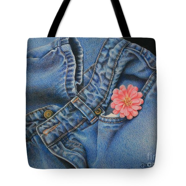 Favorite Jeans Tote Bag by Pamela Clements