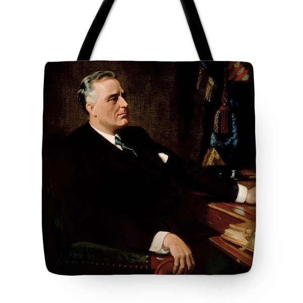 FDR Official Portrait  Tote Bag by War Is Hell Store