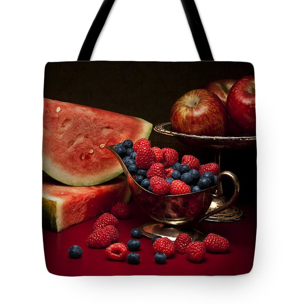 Feast Of Red Still Life Tote Bag by Tom Mc Nemar